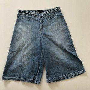 Max&Co Women's Blue Wild Culotte Shorts 29